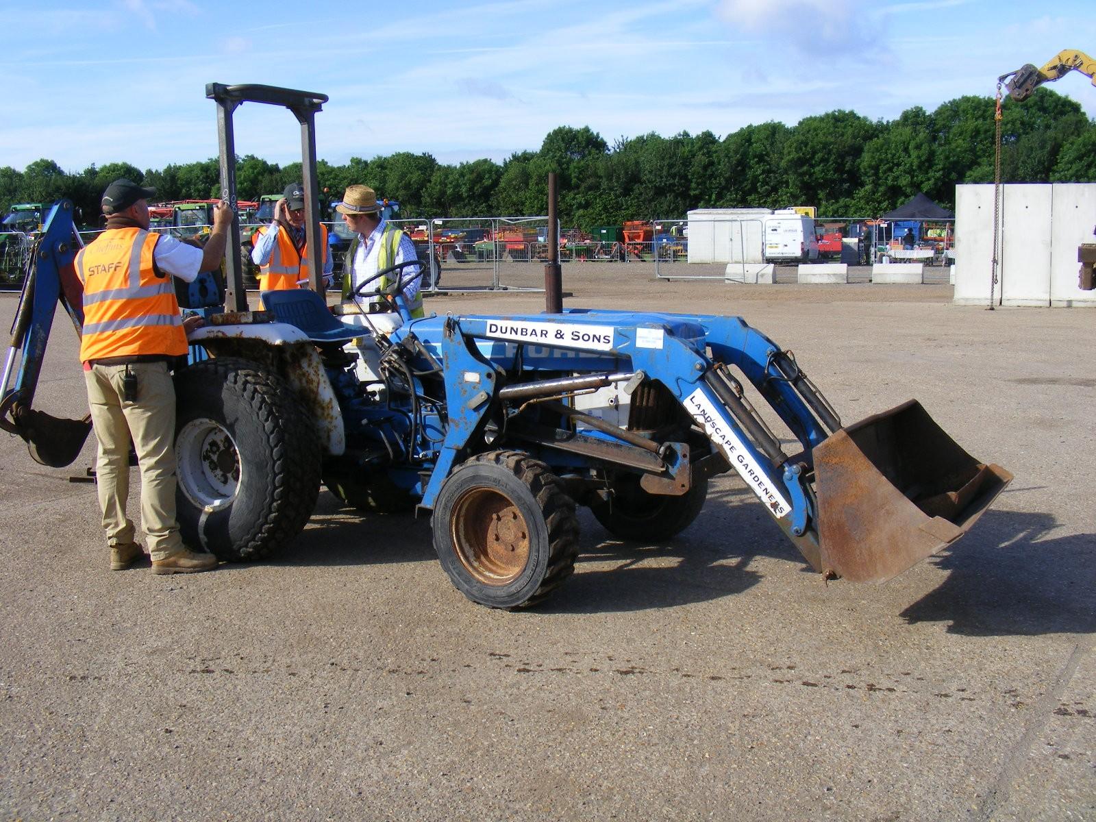 Ford 1710 Loader : Ford tractor c w loader backhoe