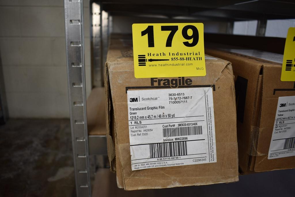 (1) ROLL 3M TRANSLUCENT GRAPHIC FILM - GREEN 3630-6513