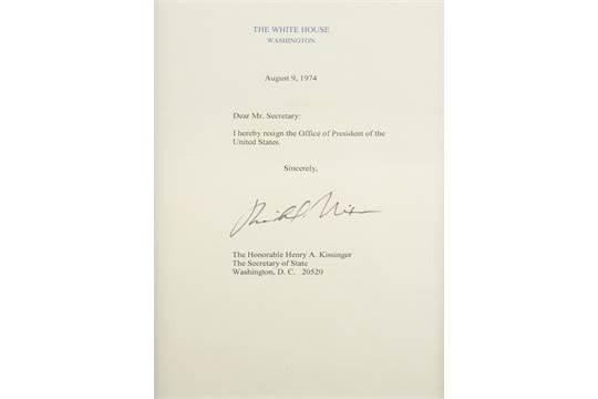 The Saleroom  Nixon Resignation Letter