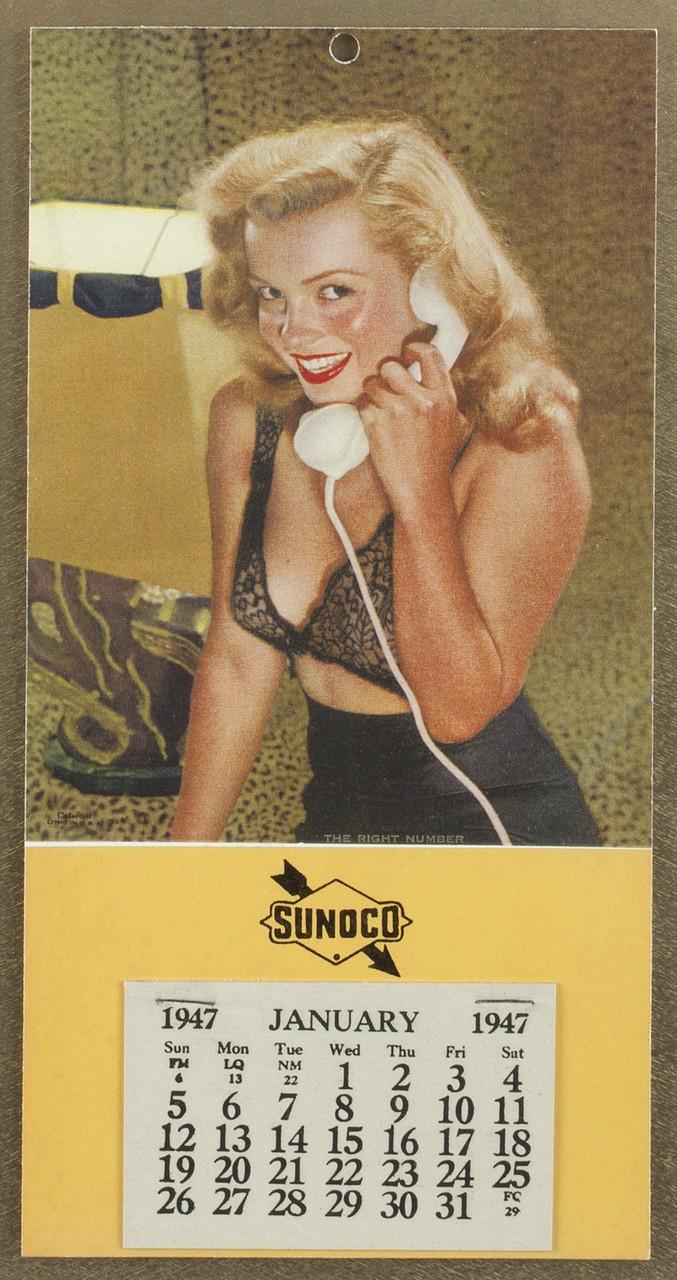 MARILYN MONROE 1947 PIN-UP CALENDAR A 1947 Marilyn Monroe pin-up ...