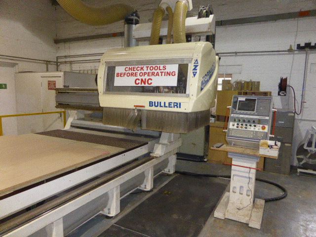 Bulleri Tornado 3721 CNC wood machining centre, serial no: 0317/1 with ...