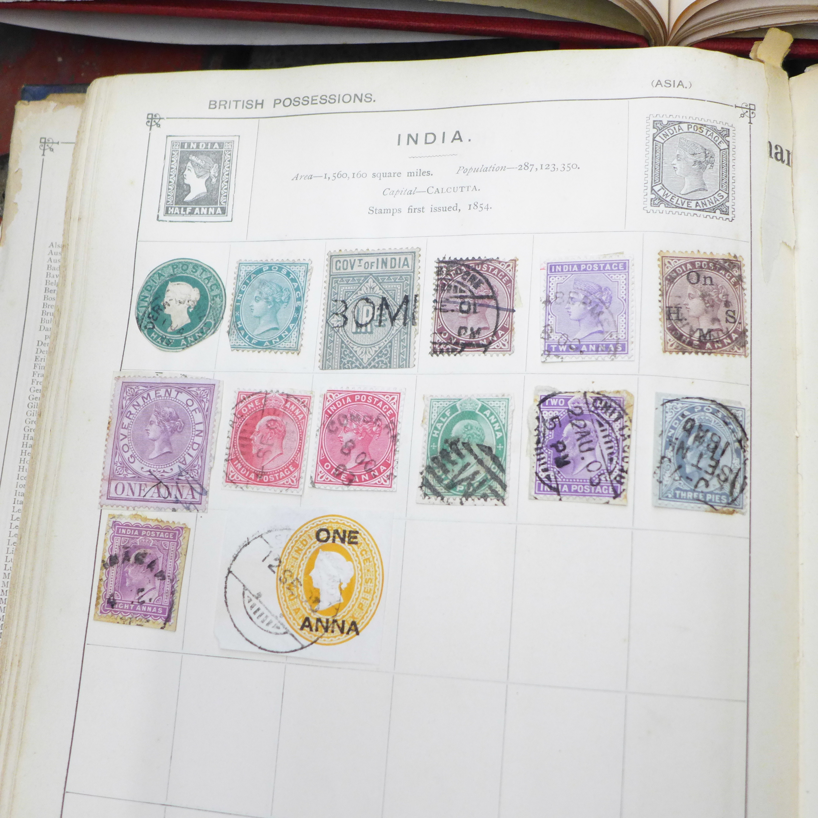 Lot 705 - Four albums of stamps including British and worldwide,