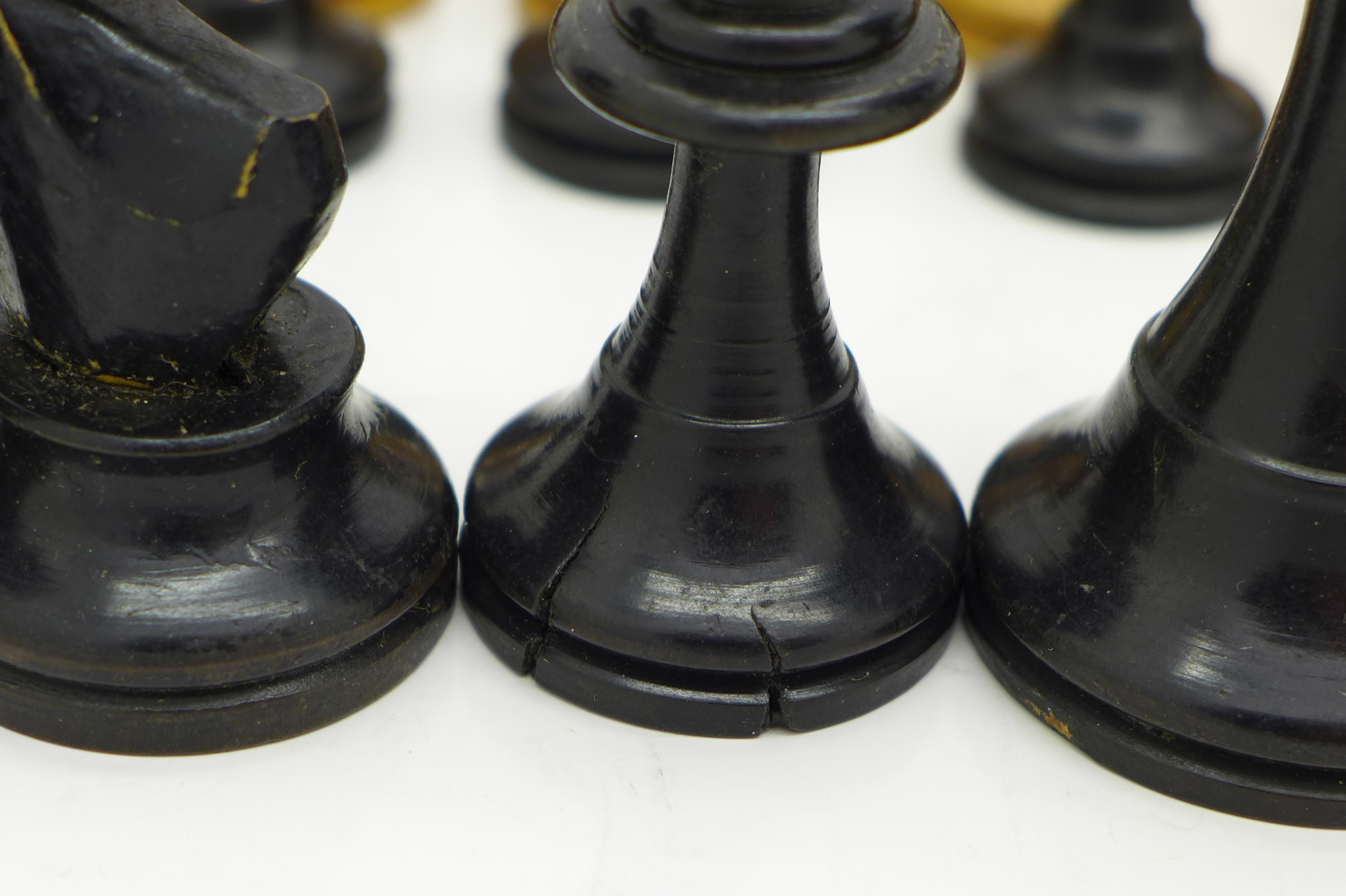 Lot 609 - A chess set, boxed, height of king 73mm,