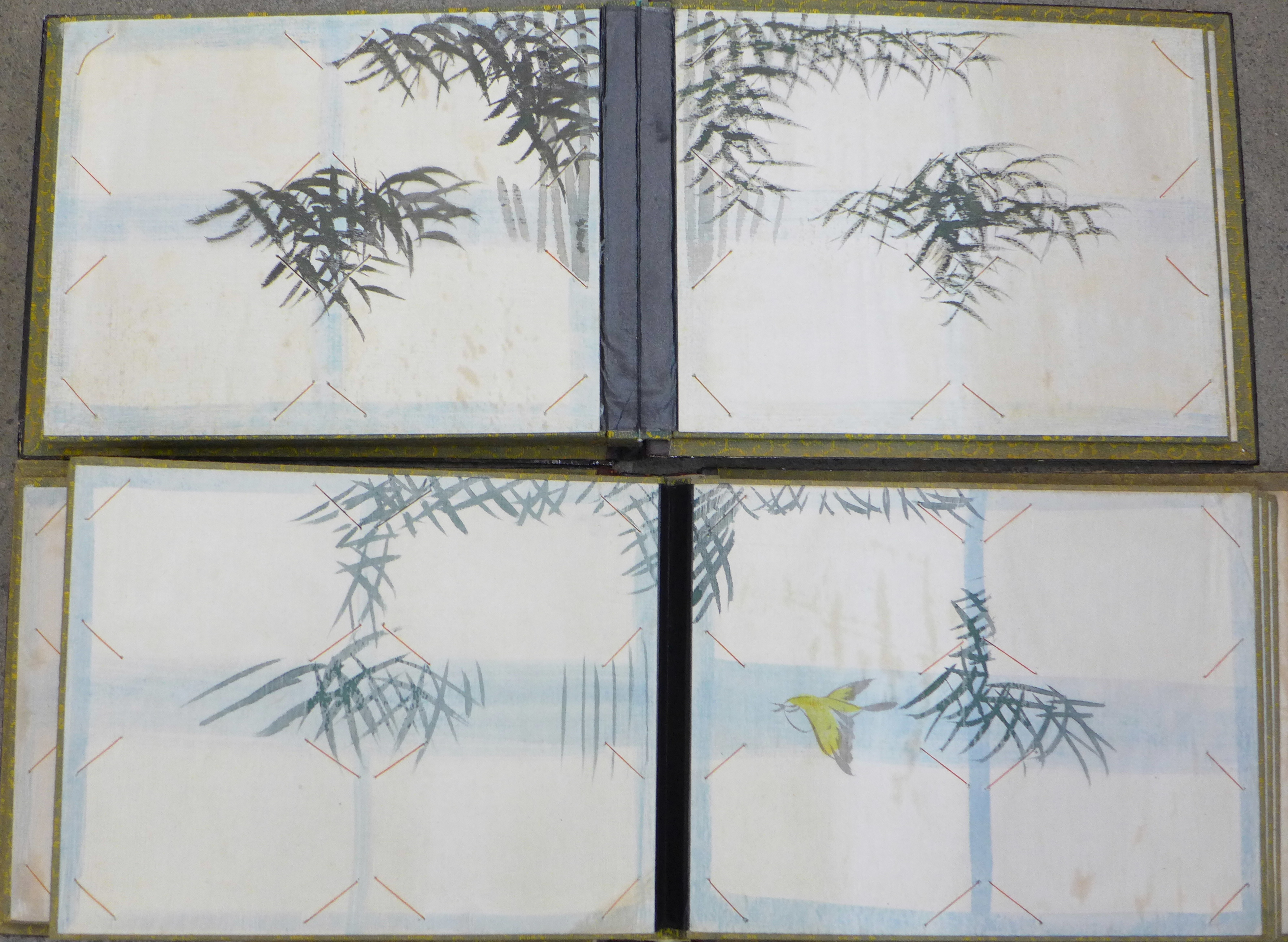 Lot 665 - Two Japanese lacquered photograph albums