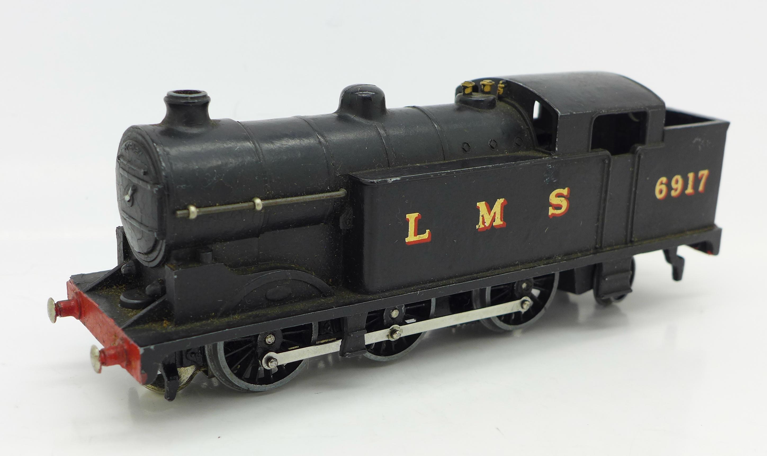Lot 623 - A pre-war Hornby Dublo LMS 6917 tank locomotive