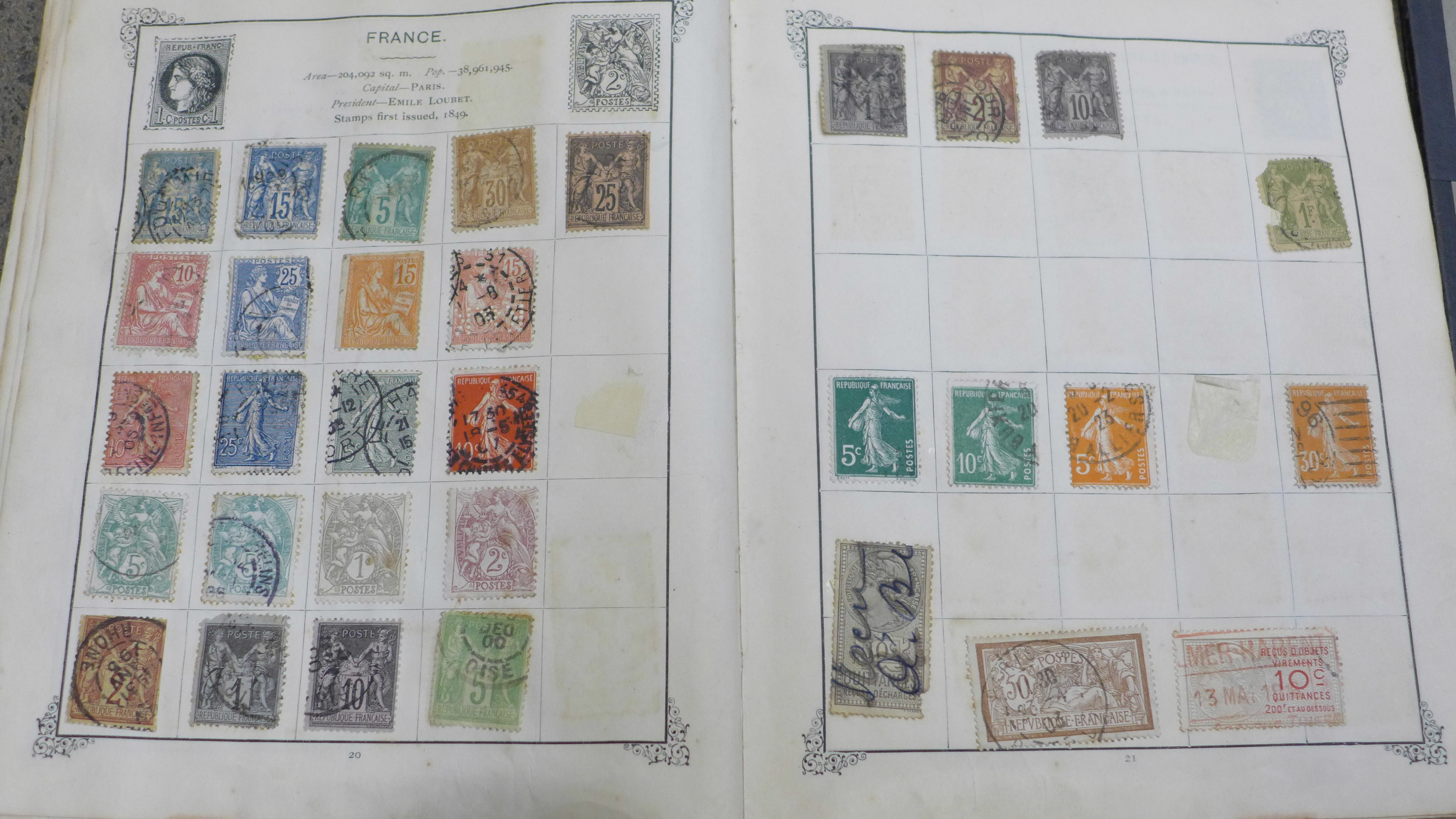 Lot 658 - A collection of stamps including a penny black, a/f,