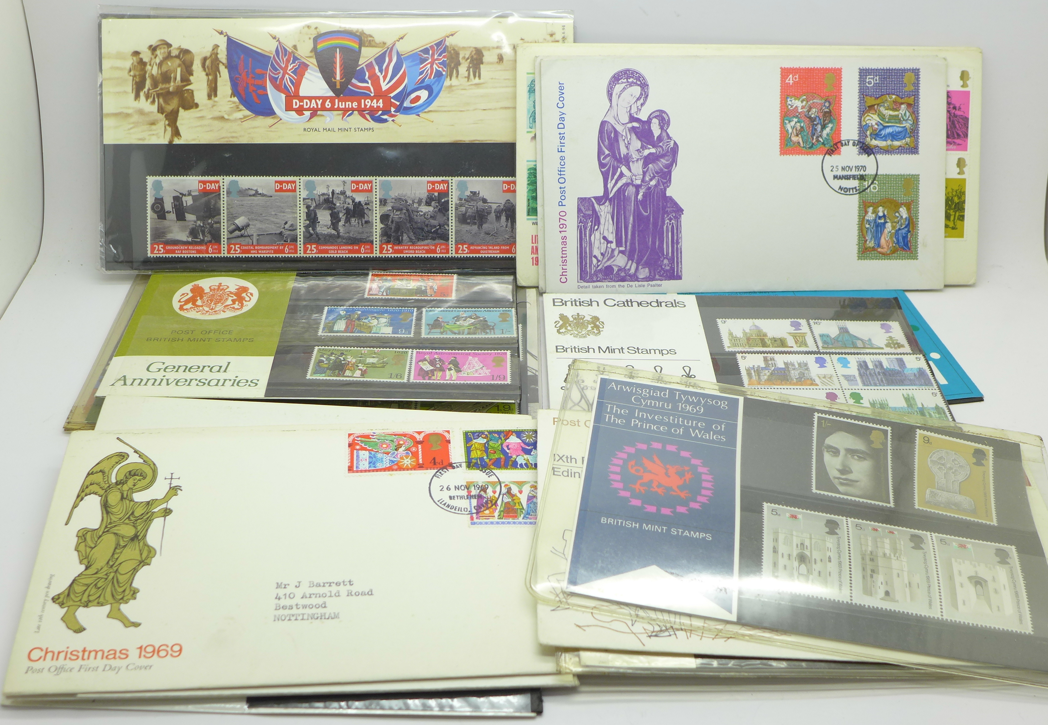 Lot 621 - A collection of stamp first day covers