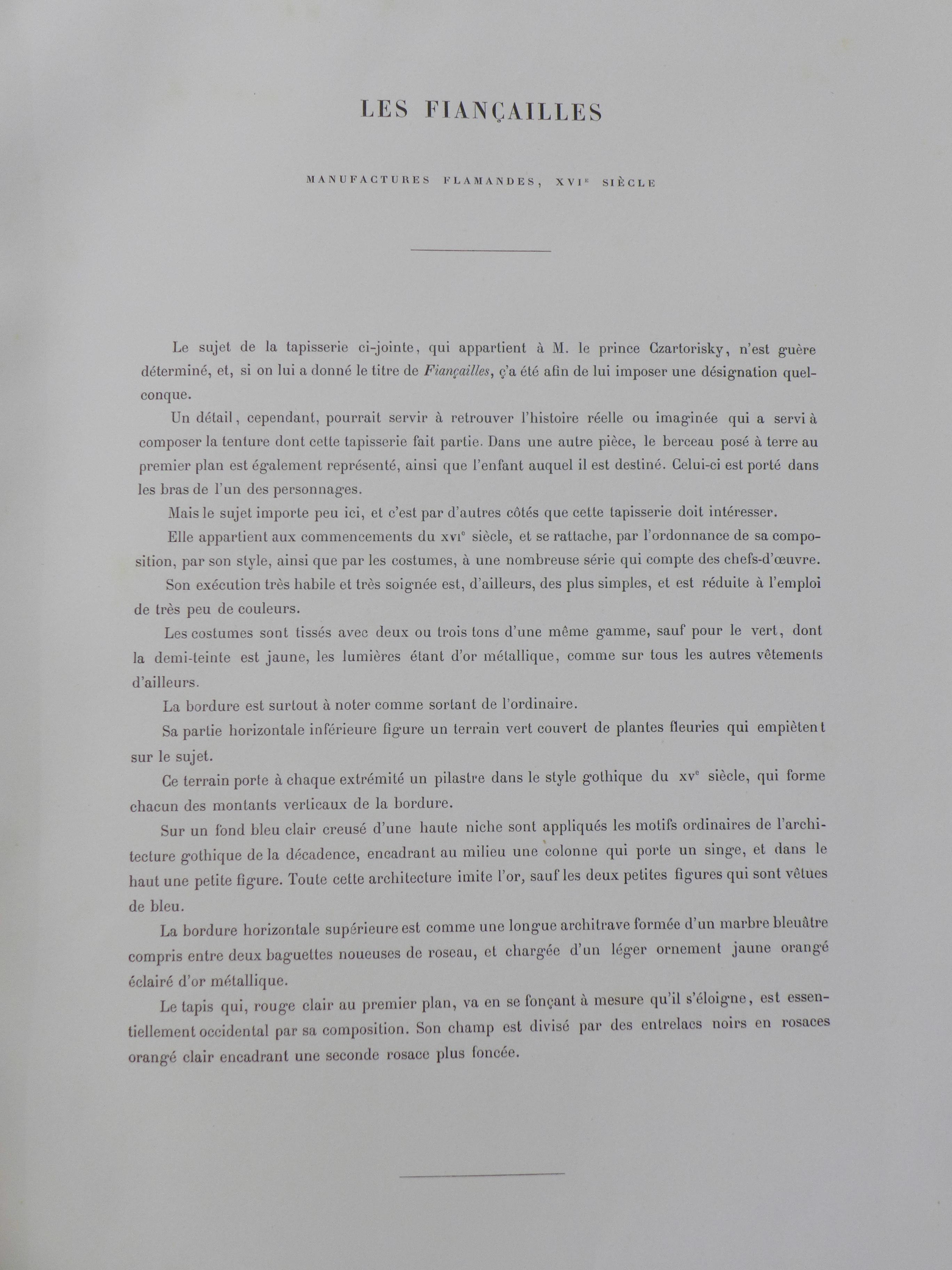 Lot 677B - One large volume, Les Tapisseries Decoratives du Garde-Meuble,