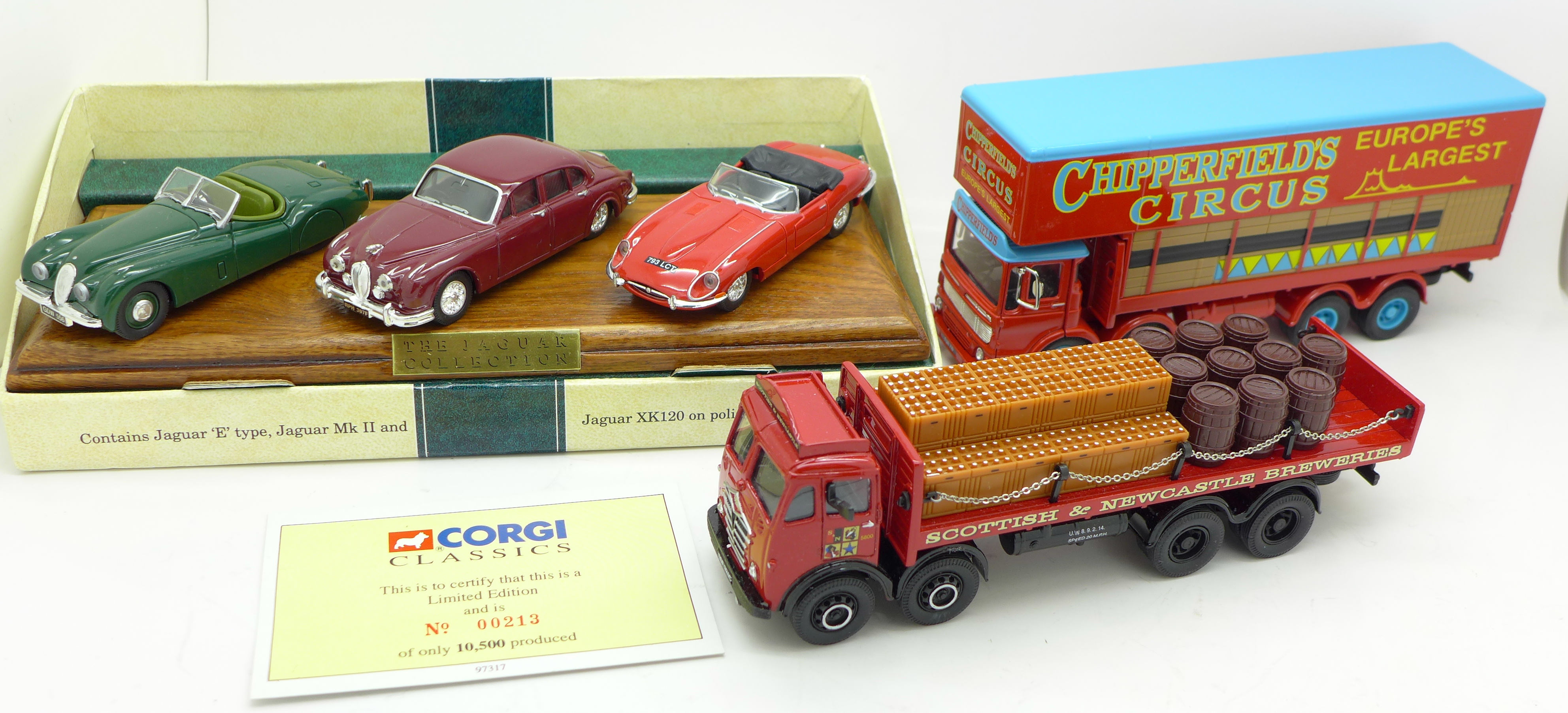 Lot 626 - Two Corgi Classics model vehicles,