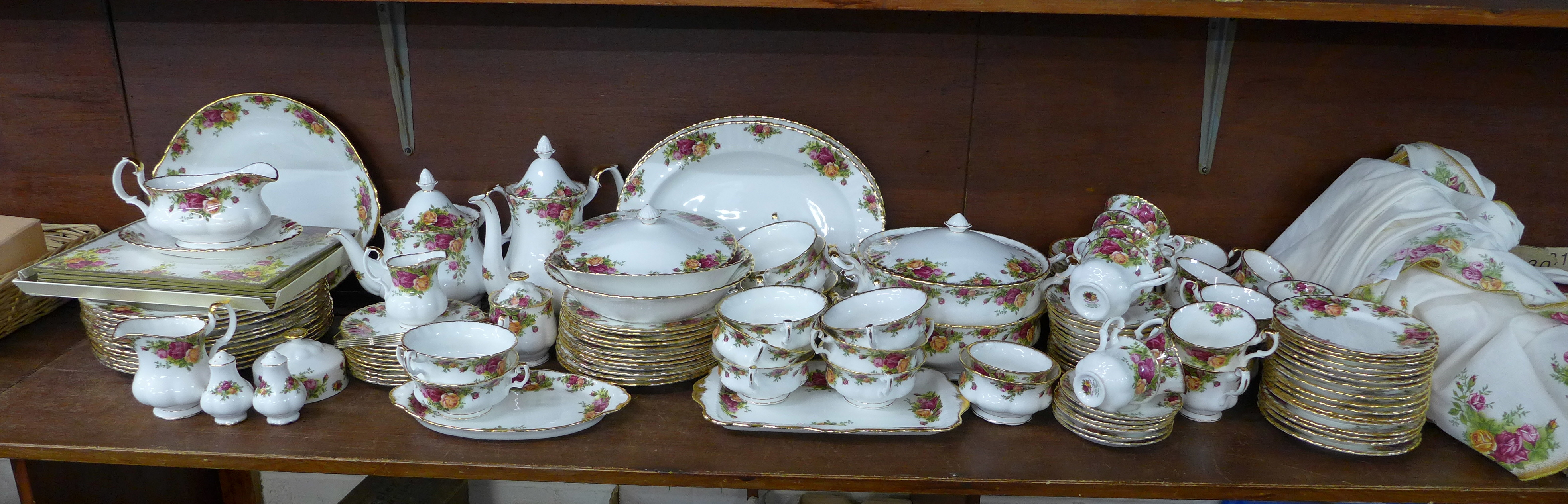 Lot 677 - A large quantity of Royal Albert Old Country Roses dinner and teaware, including coffee service,