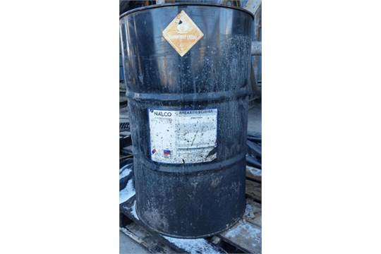 50 gallon barrel nalco breaxit ec2010a demulsifier safety data sheets posted as pictures