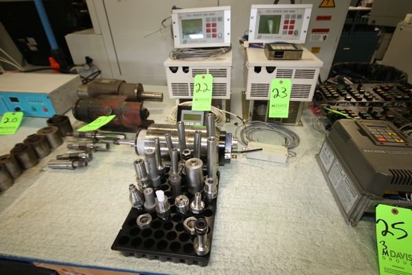 Lot 22 - Nordmann Motor Drive, Control Panel, Model 50173-0, GMN Spindle, HSX150-42000/11 R800398 and Various