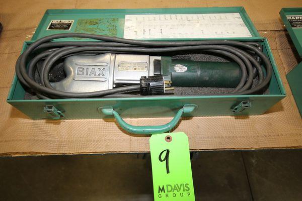Lot 9 - Biax Scraper, Type 7ESM, S/N 200040-015/1555, 110 V with Case