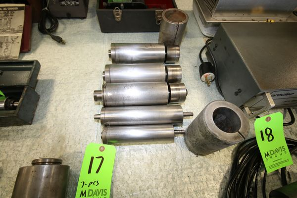 Lot 17 - (7) Pcs - (5) GMN Spindles includes Overbeck TSI 80X200-6007 R305370; TSI 80cX200-6007 R341495;