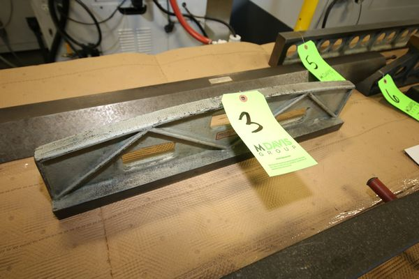 "Lot 3 - Busch Precision Inc. 3"" W x 6"" H x 24"" L Camelback Dovetail Straight Edge, STK #6624S, S/N 29173/2"
