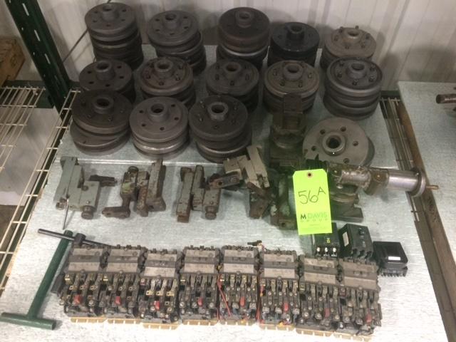 Lot 56A - Cincinnati R Series Grinder Parts with Grinding Wheel Hubs (31); Straight, Angle & Radius Wheel