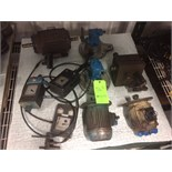 Assorted Cincinnati R-Series Grinder Machine Parts including Motor and Controls