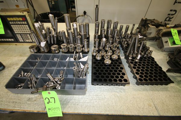 Lot 27 - Assorted ID Quills for Okuma and Overbeck Grinders, Setco and GMN spindles thread diameter sizes