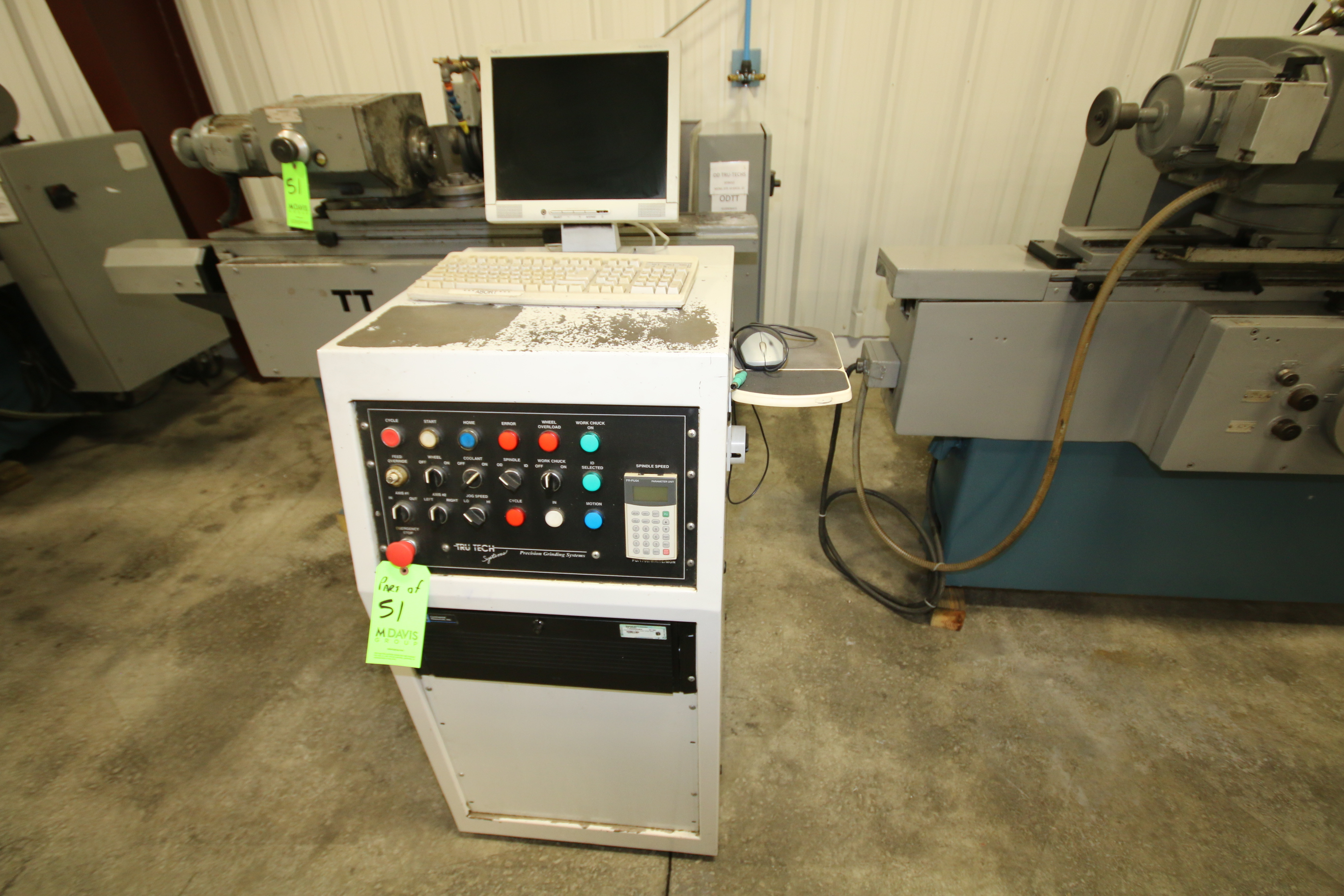 Lot 51 - 2007 R-Series OD Grinder with Conversion to CNC by Tru Tech Systems, Model OD-10x20, S/N TTS-8089,