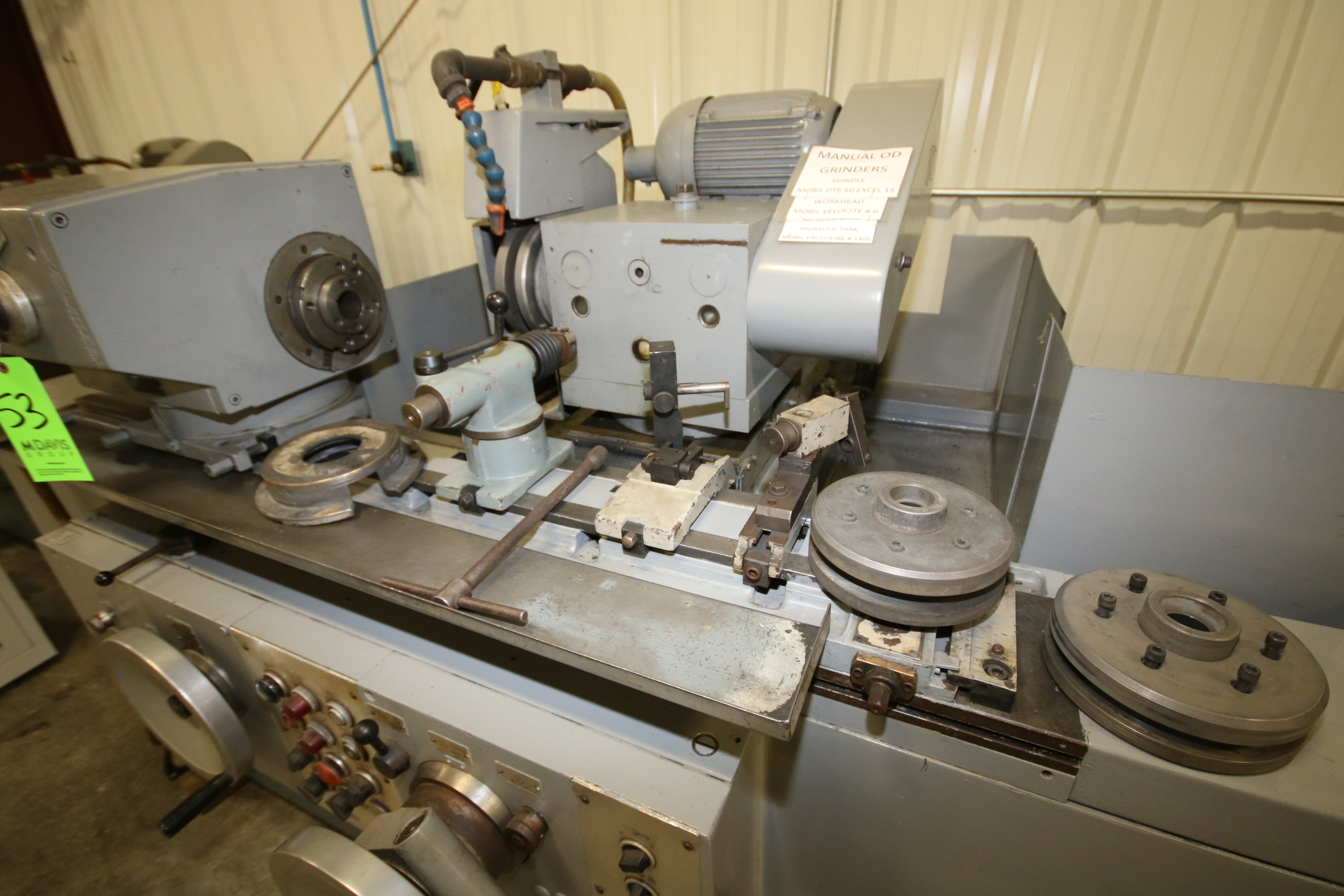 Lot 53 - Cincinnati Milacron 10x31 OD Grinder, Type R-75, S/N 27271, 440 V, 3 Phase with Wheel Hubs (3);