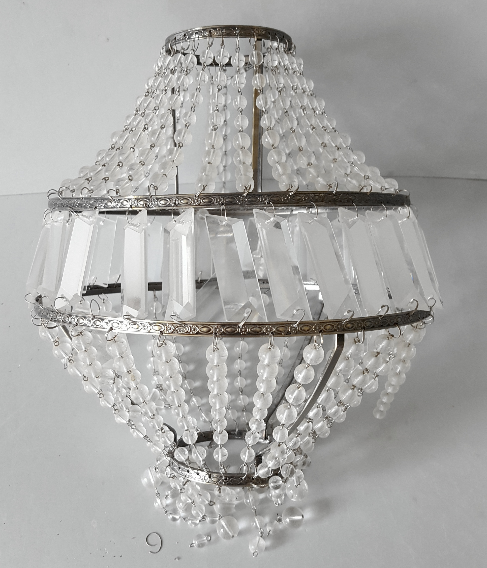 Lot 88 - Antique Vintage Retro Glass Chandelier