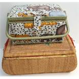 Vintage Retro 2 x Sewing Baskets & Any Contents NO RESERVE