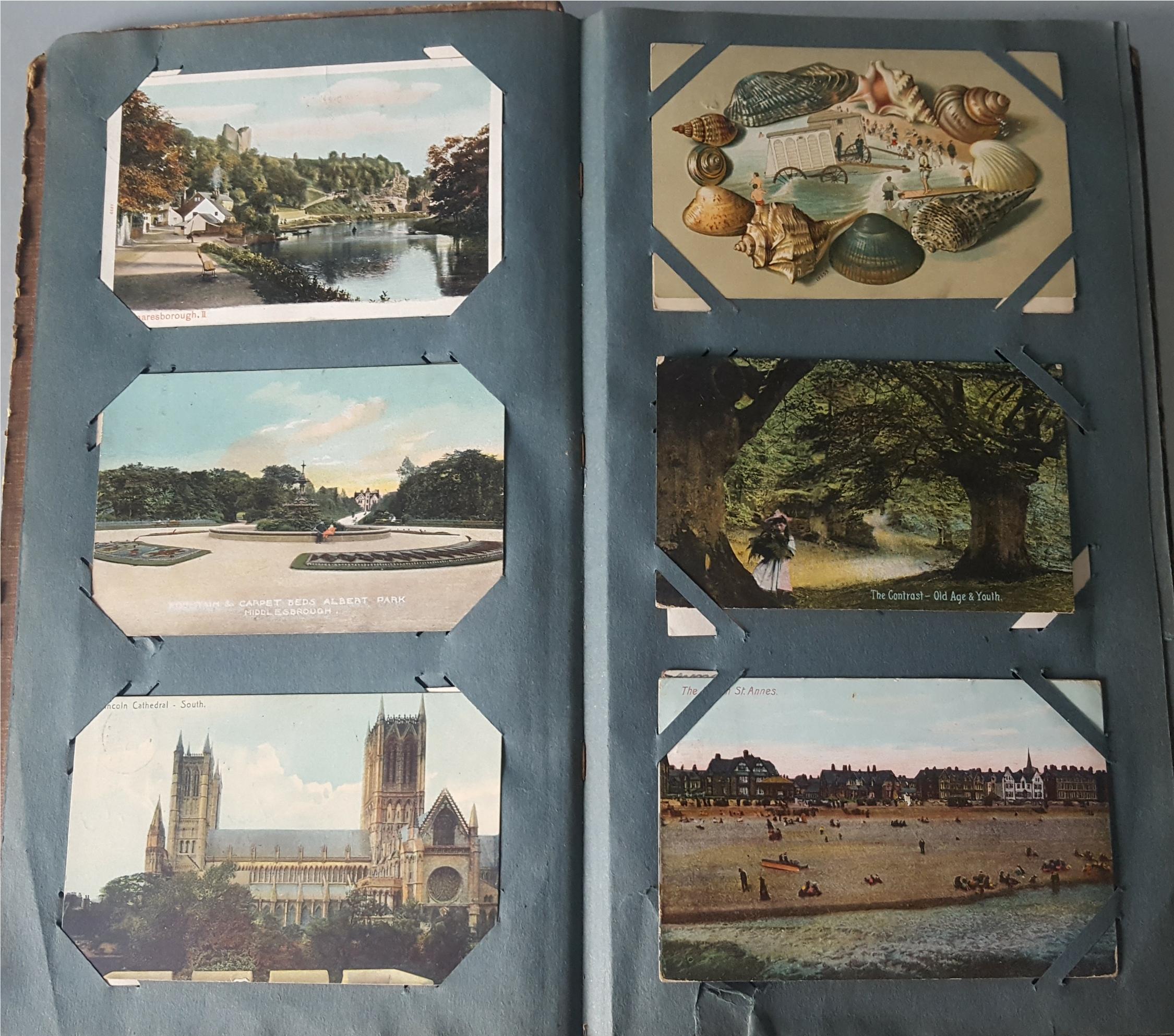 Antique Vintage Postcard Album Over 90 Plus Postcards c1905 - Image 2 of 4