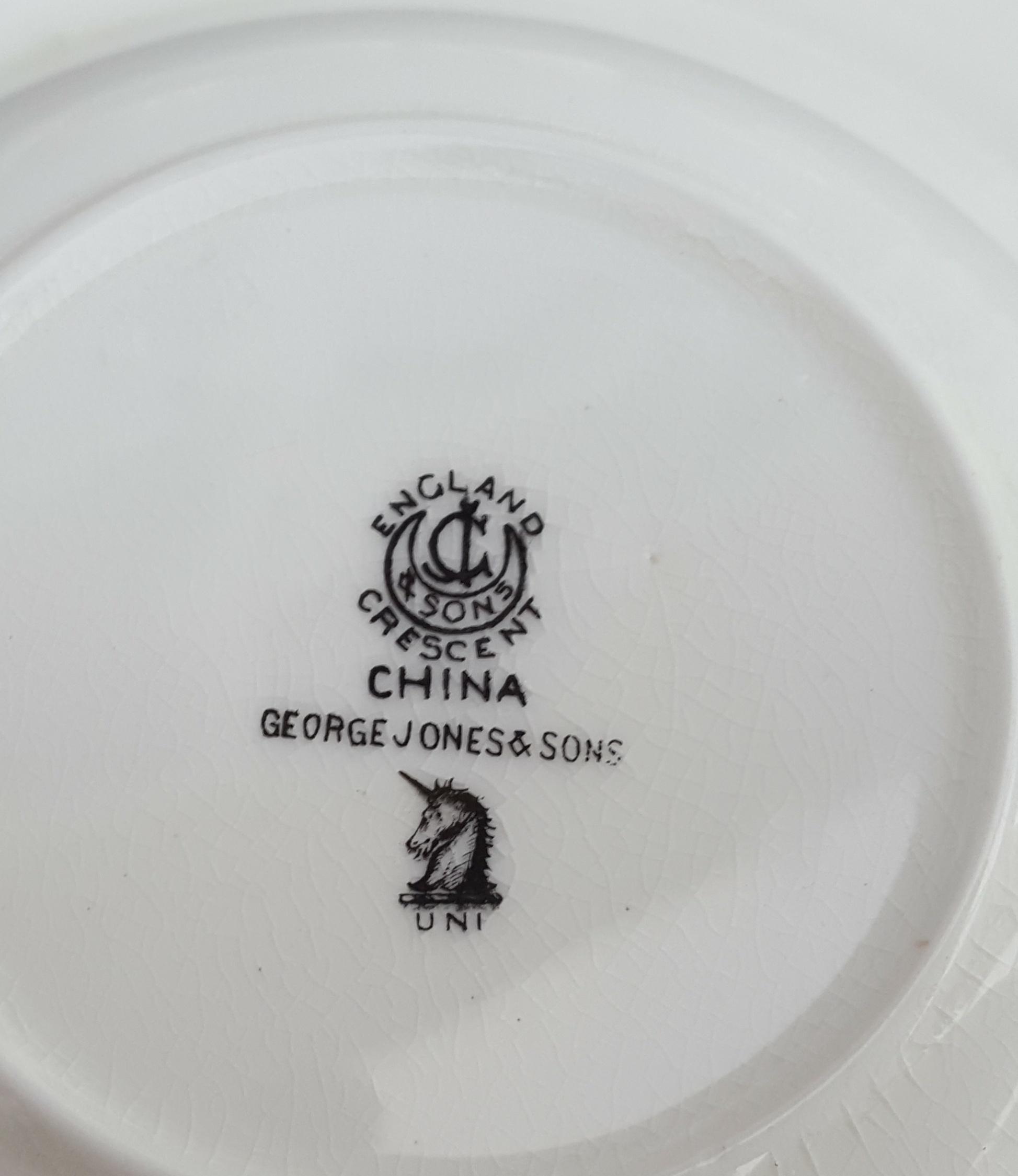 Lot 120 - Antique Vintage Collectable George Jones Tea For Two 8 Piece Tea Service