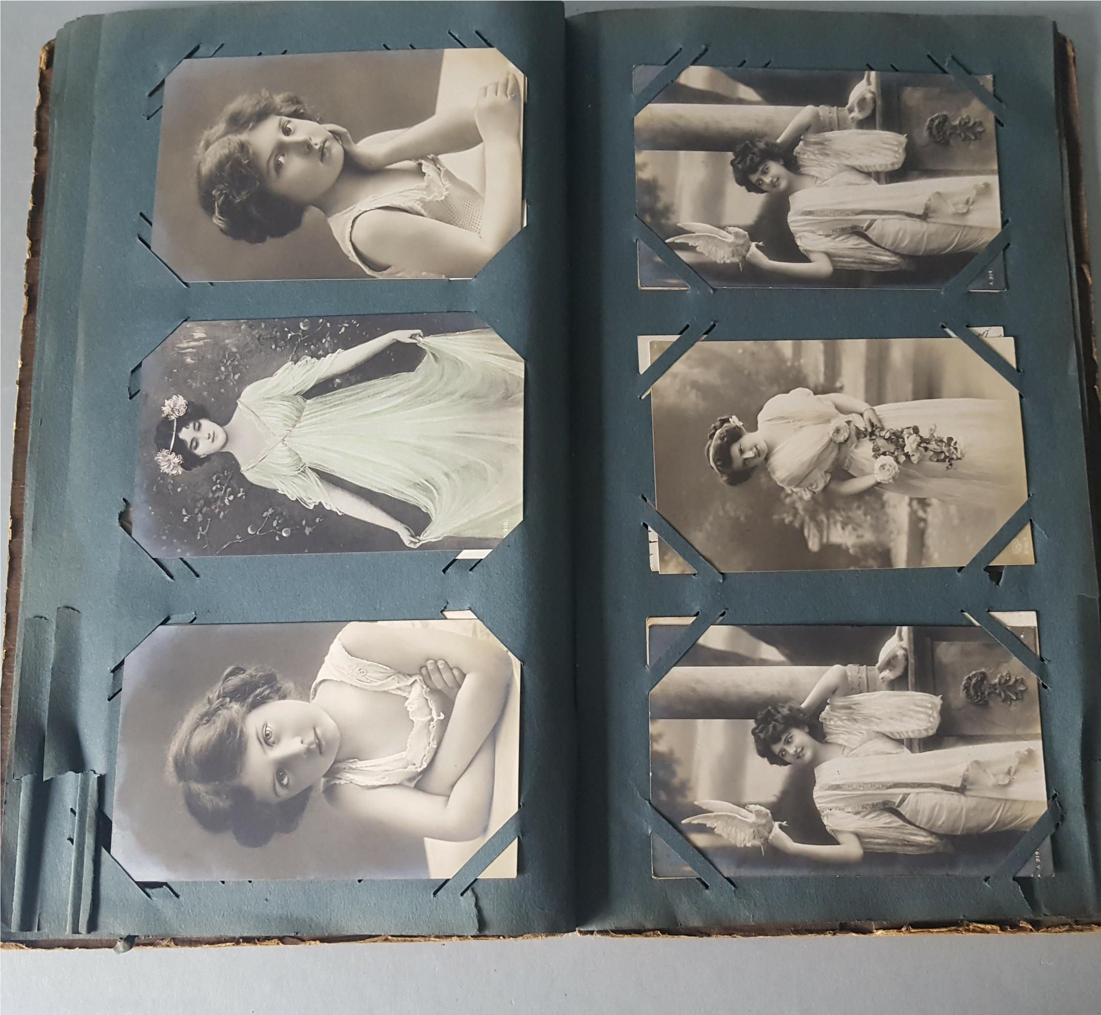 Antique Vintage Postcard Album Over 90 Plus Postcards c1905 - Image 4 of 4