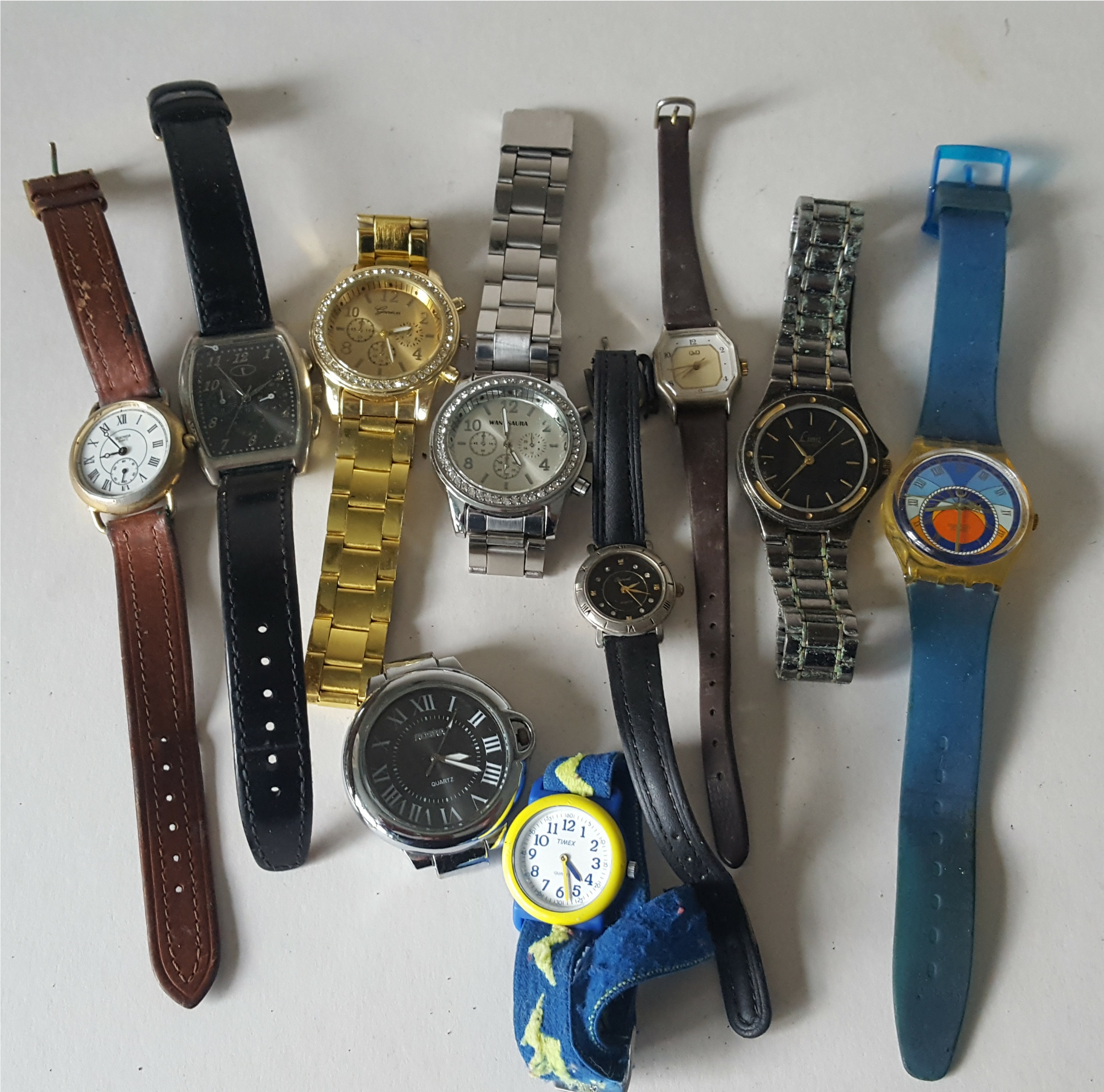 Lot 84 - Vintage Retro Parcel of 10 Assorted Wrist Watches NO RESERVE