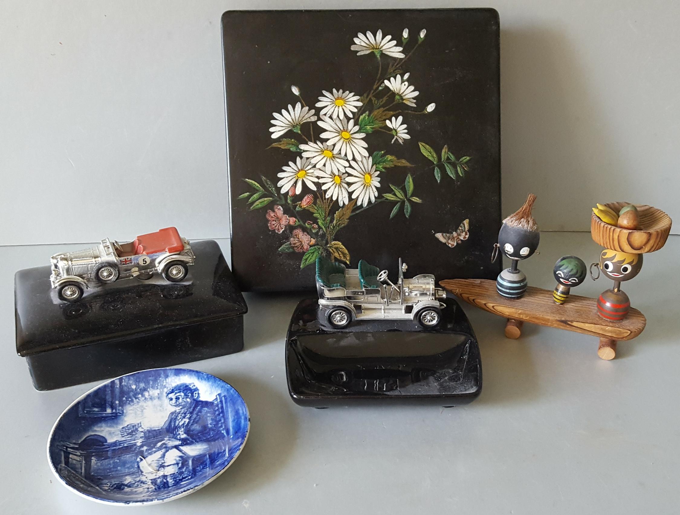 Vintage Retro Parcel Items Includes Lesney Vehicles Ashtray etc Plus Box & Novelties NO RESERVE