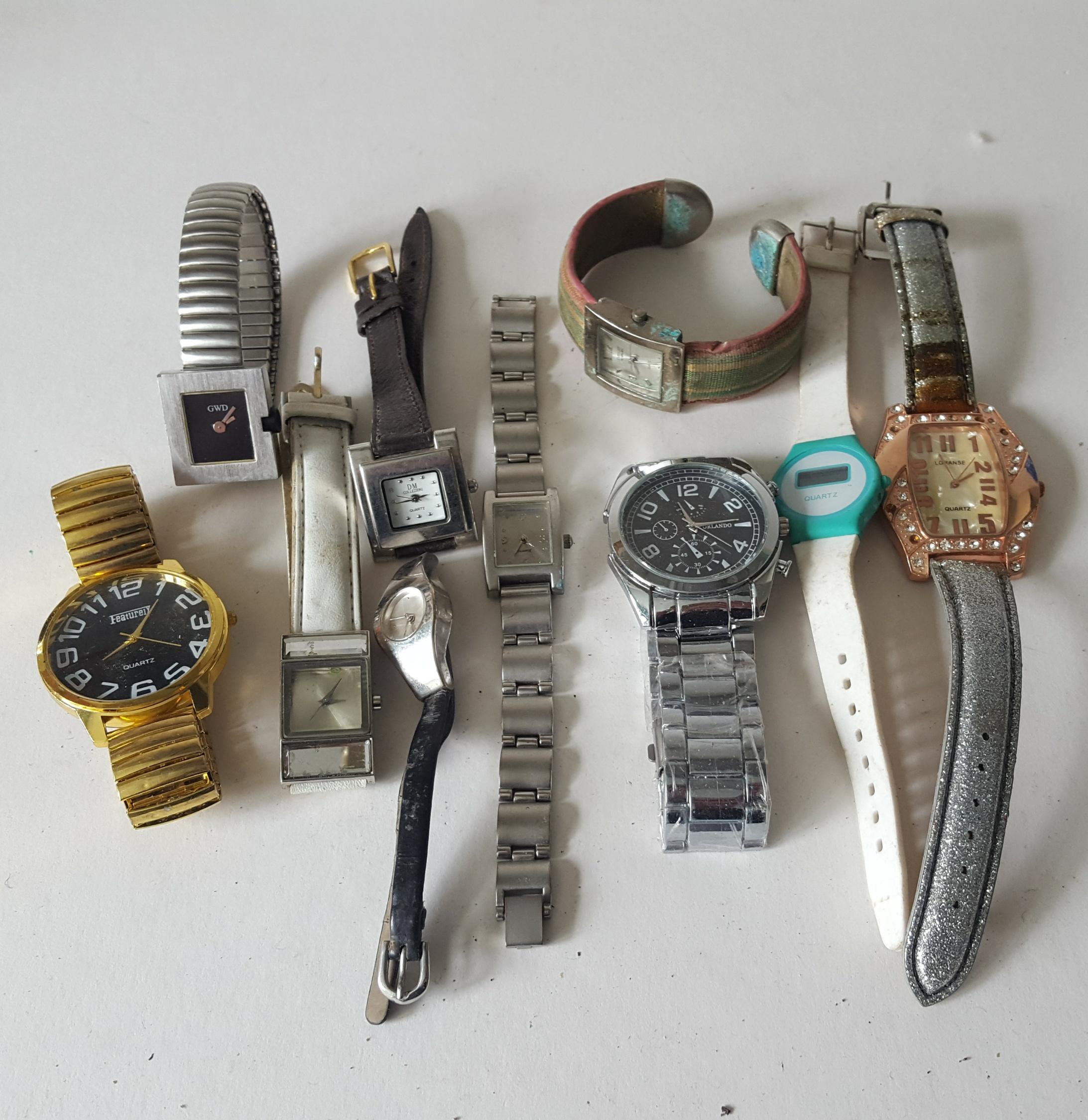 Lot 77 - Vintage Retro Parcel of 10 Assorted Wrist Watches NO RESERVE