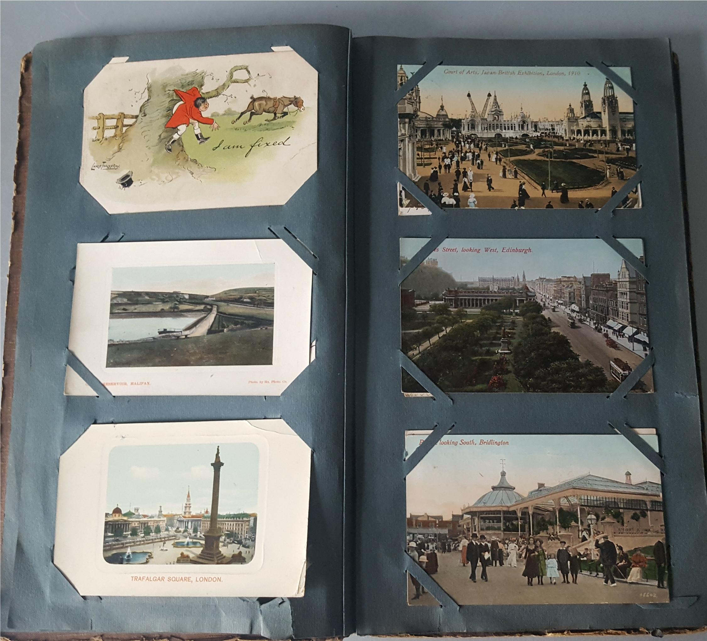 Antique Vintage Postcard Album Over 90 Plus Postcards c1905