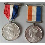 Vintage Medals Commemorative Coronation of King George V 1911 & King George VI 1937 NO RESERVE