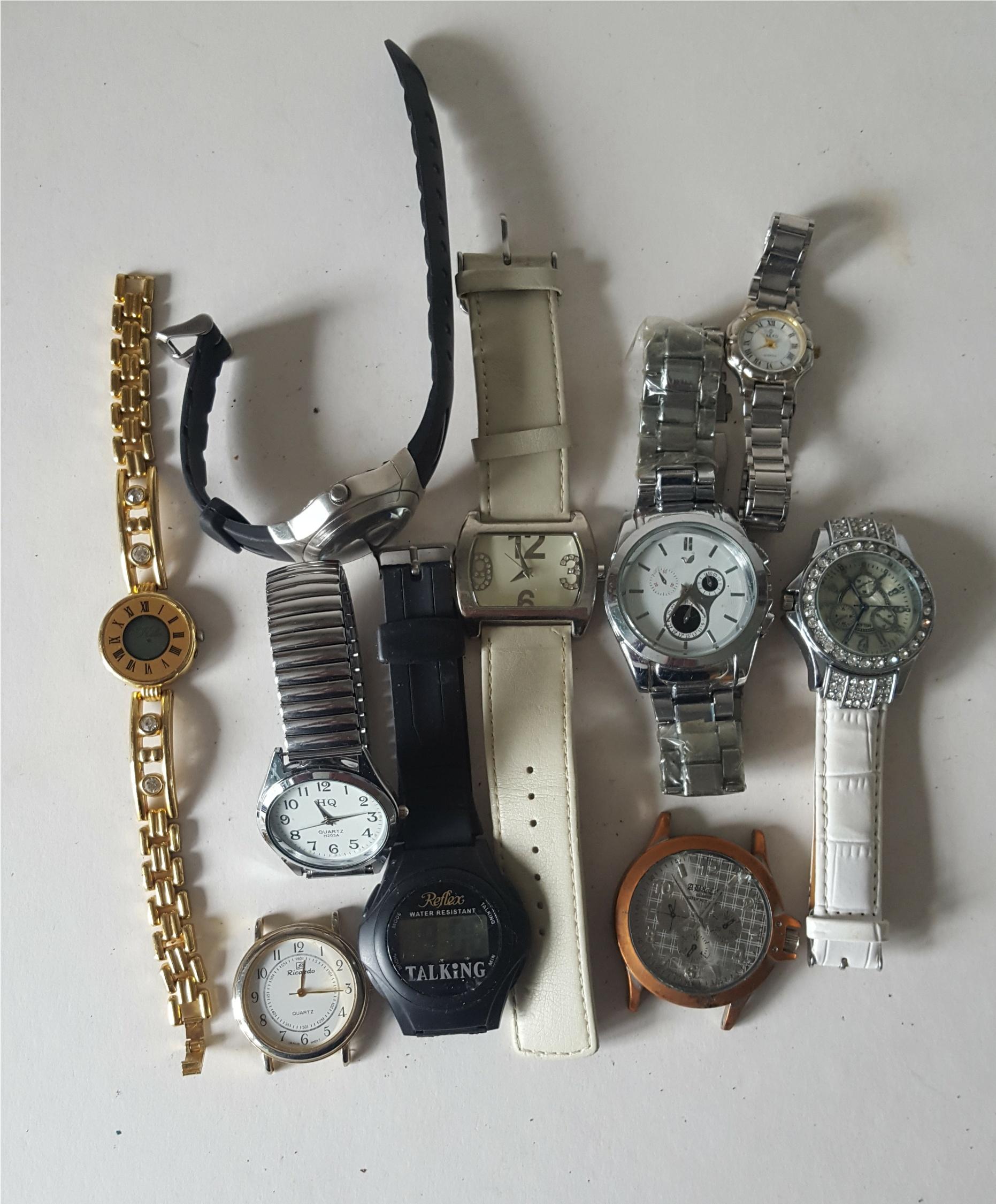 Lot 85 - Vintage Retro Parcel of 10 Assorted Wrist Watches NO RESERVE
