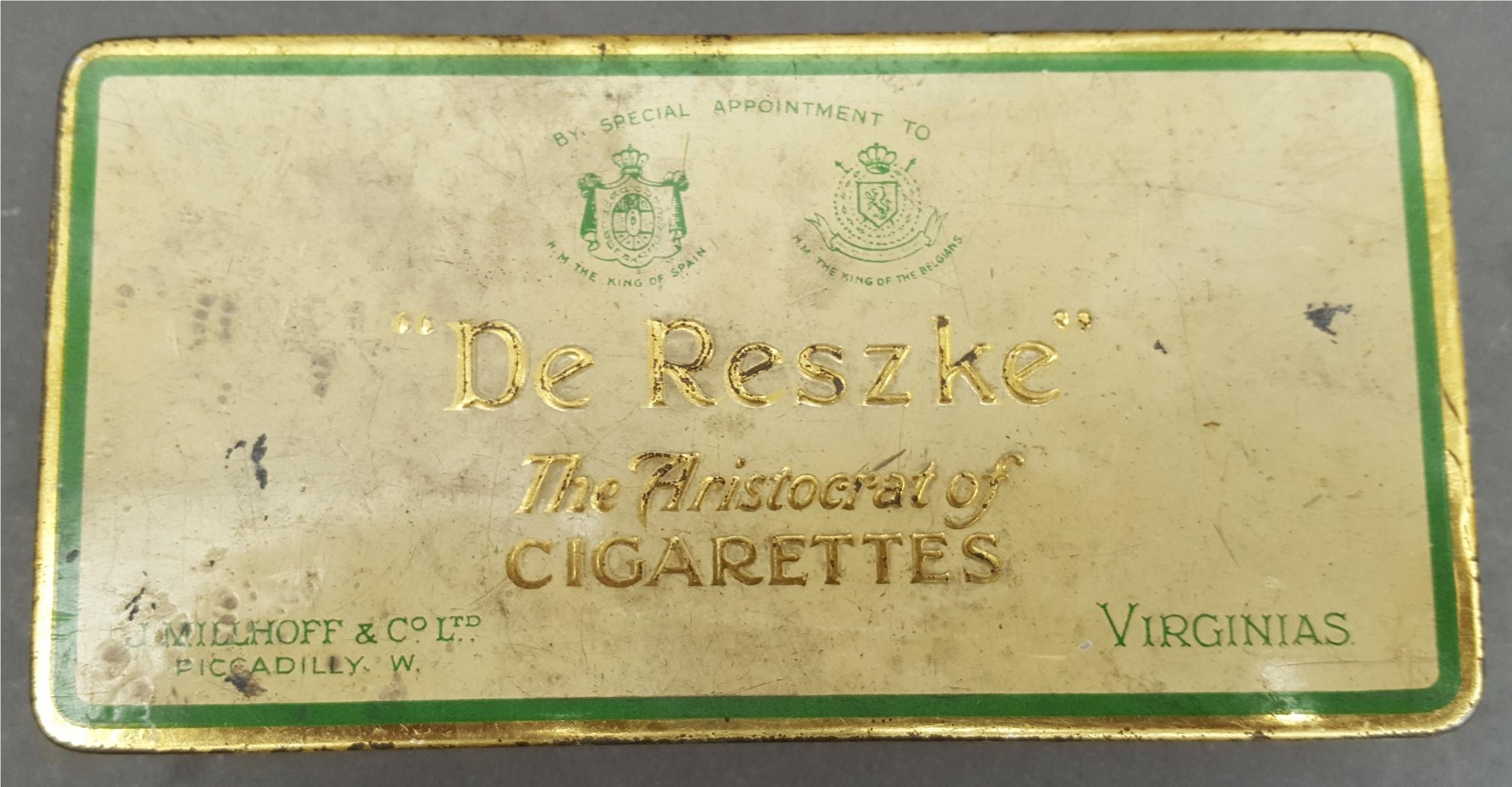 Lot 45 - Antique Vintage Collection of 150 plus Cigarette Cards in a De Reszke Cigarette Tin