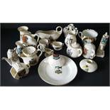 Antique Vintage Collection of At Least 20 Crested Ware Items Assorted Backstamps & Crests.
