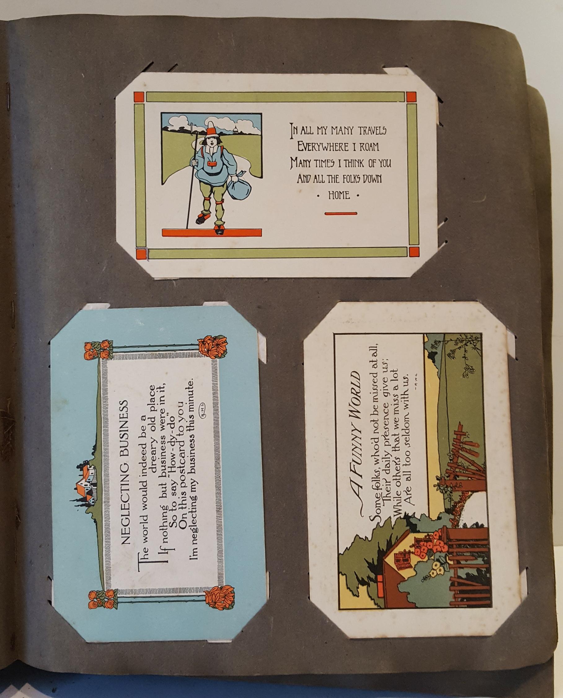 Lot 20 - Antique Vintage Postcard Album Over 400 Postcards