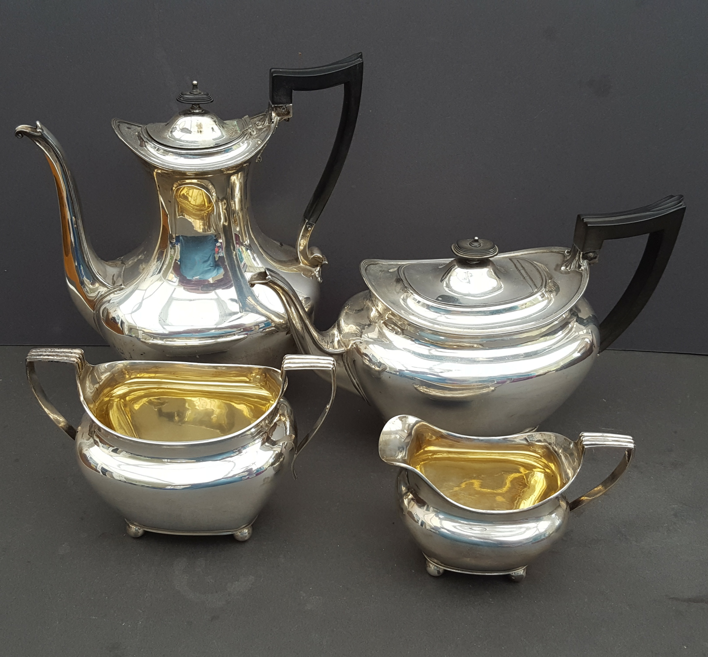 Vintage Silver Plated 4 Piece Tea & Coffee Set