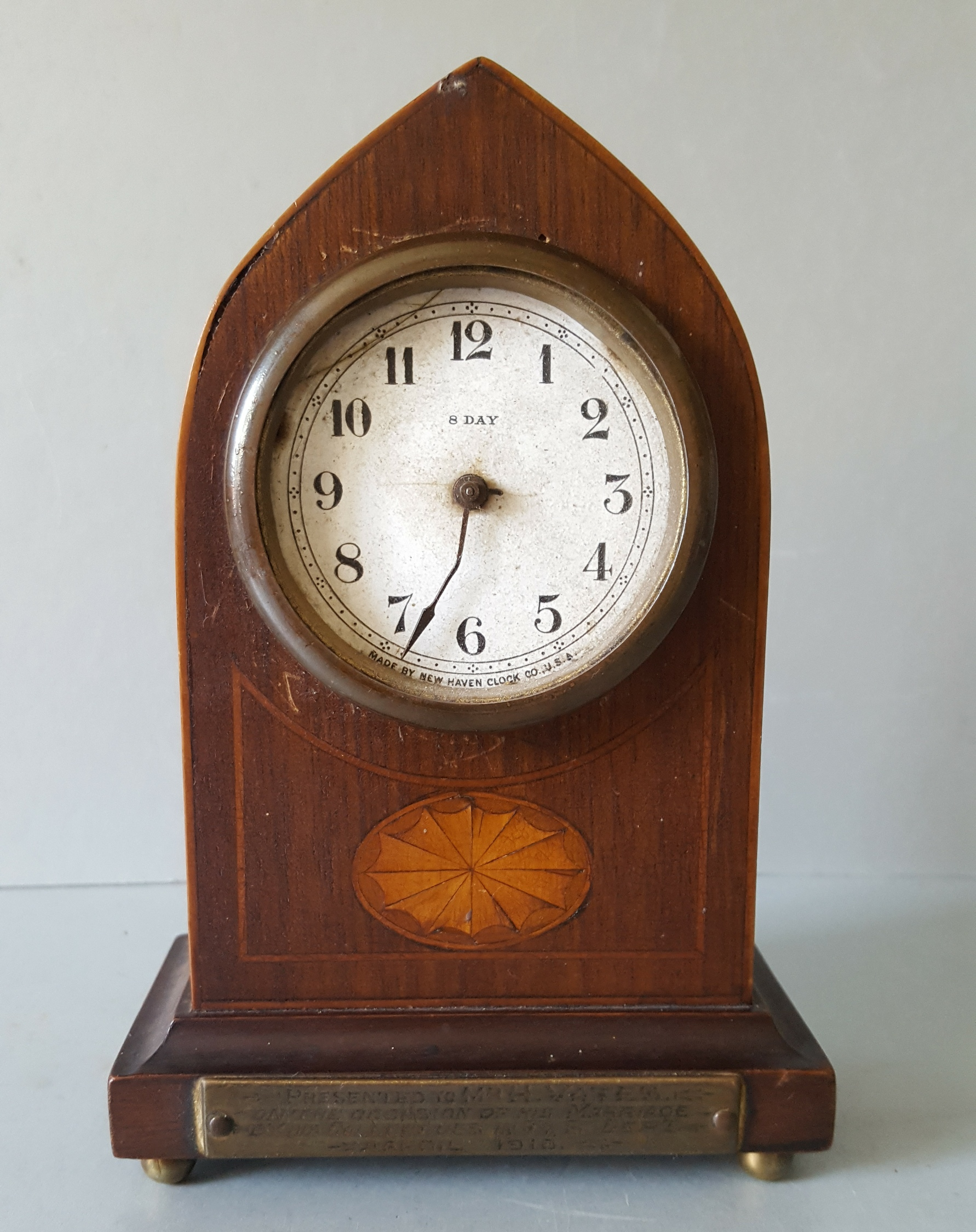 Lot 89 - Antique 8 Day New Haven USA Clock