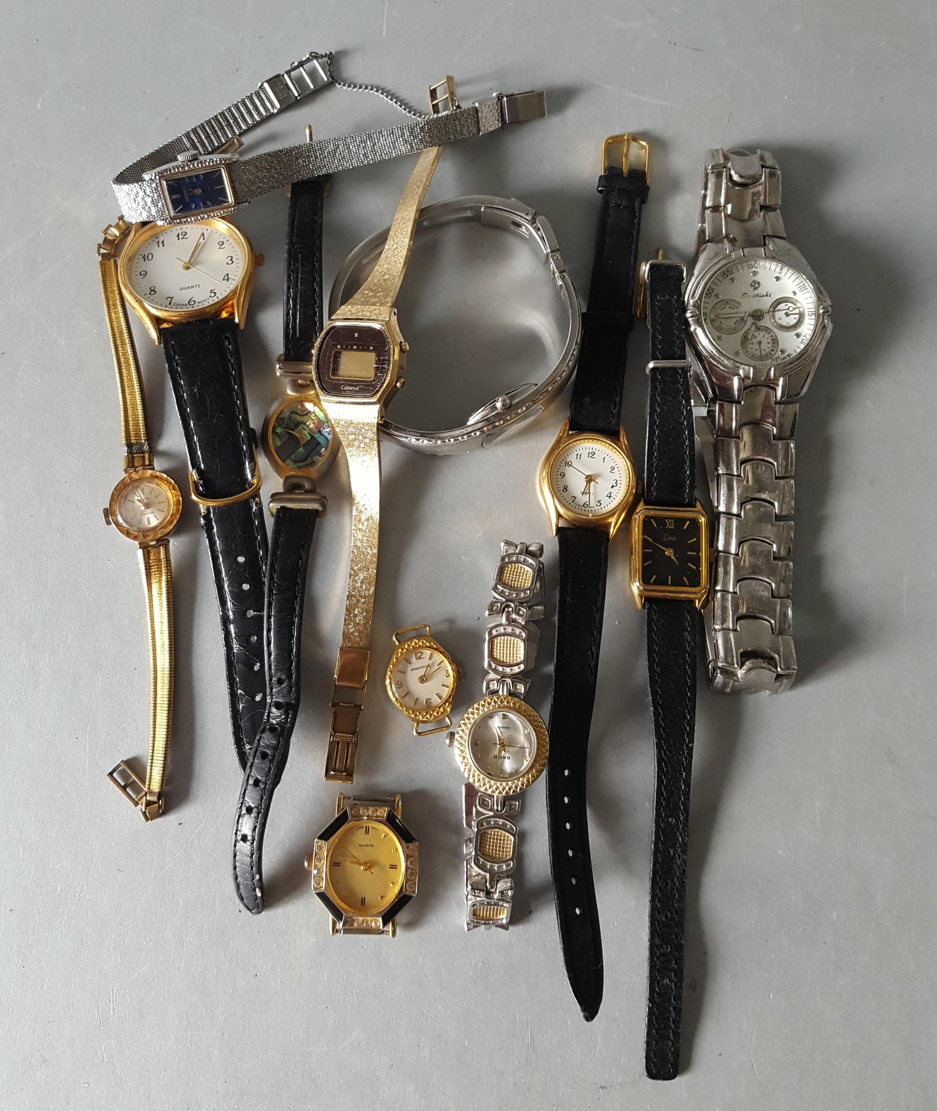 Lot 113 - Vintage Retro Parcel of 12 Wrist Watches Includes Ingersol Limit ect NO RESERVE
