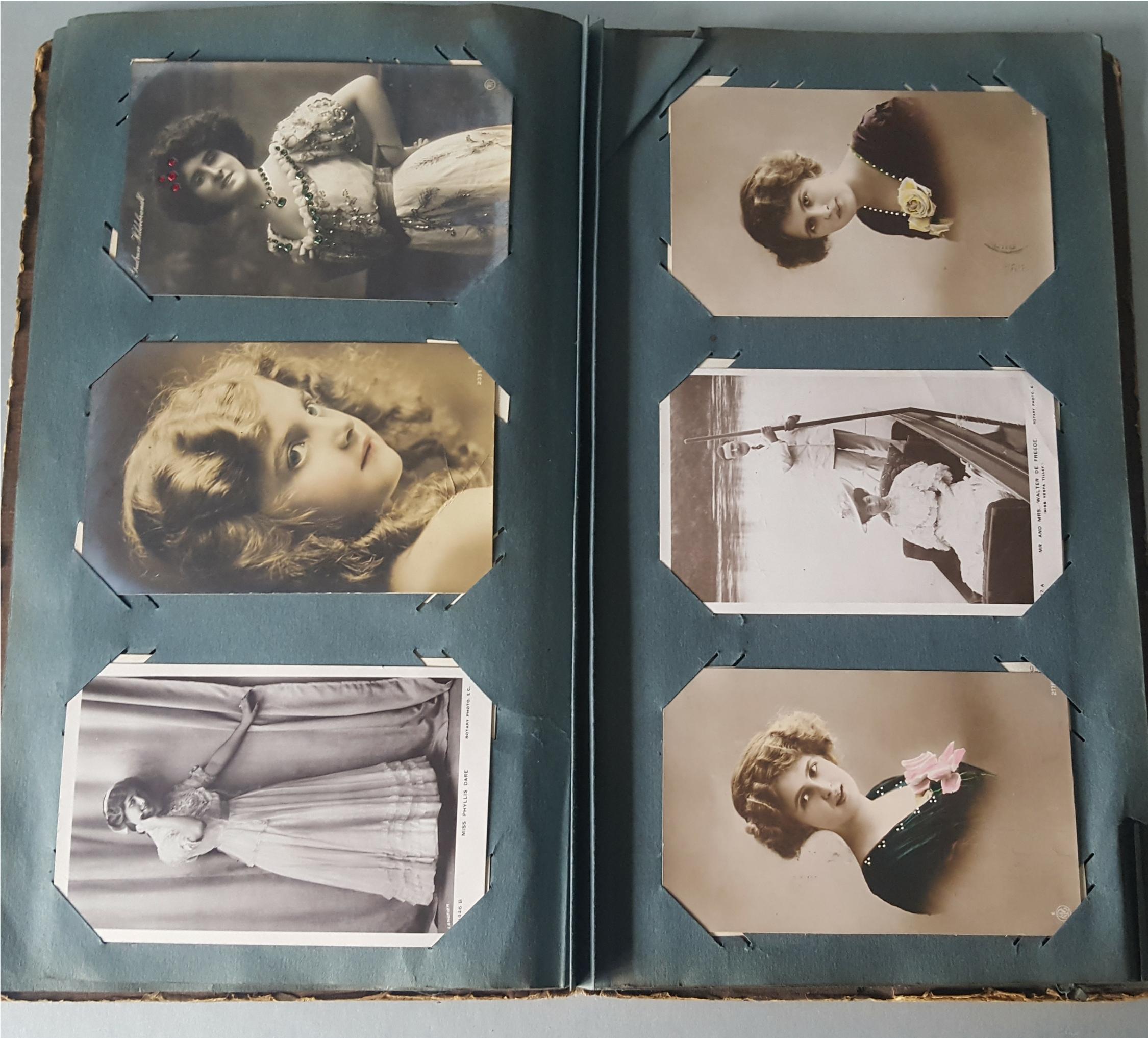Antique Vintage Postcard Album Over 90 Plus Postcards c1905 - Image 3 of 4