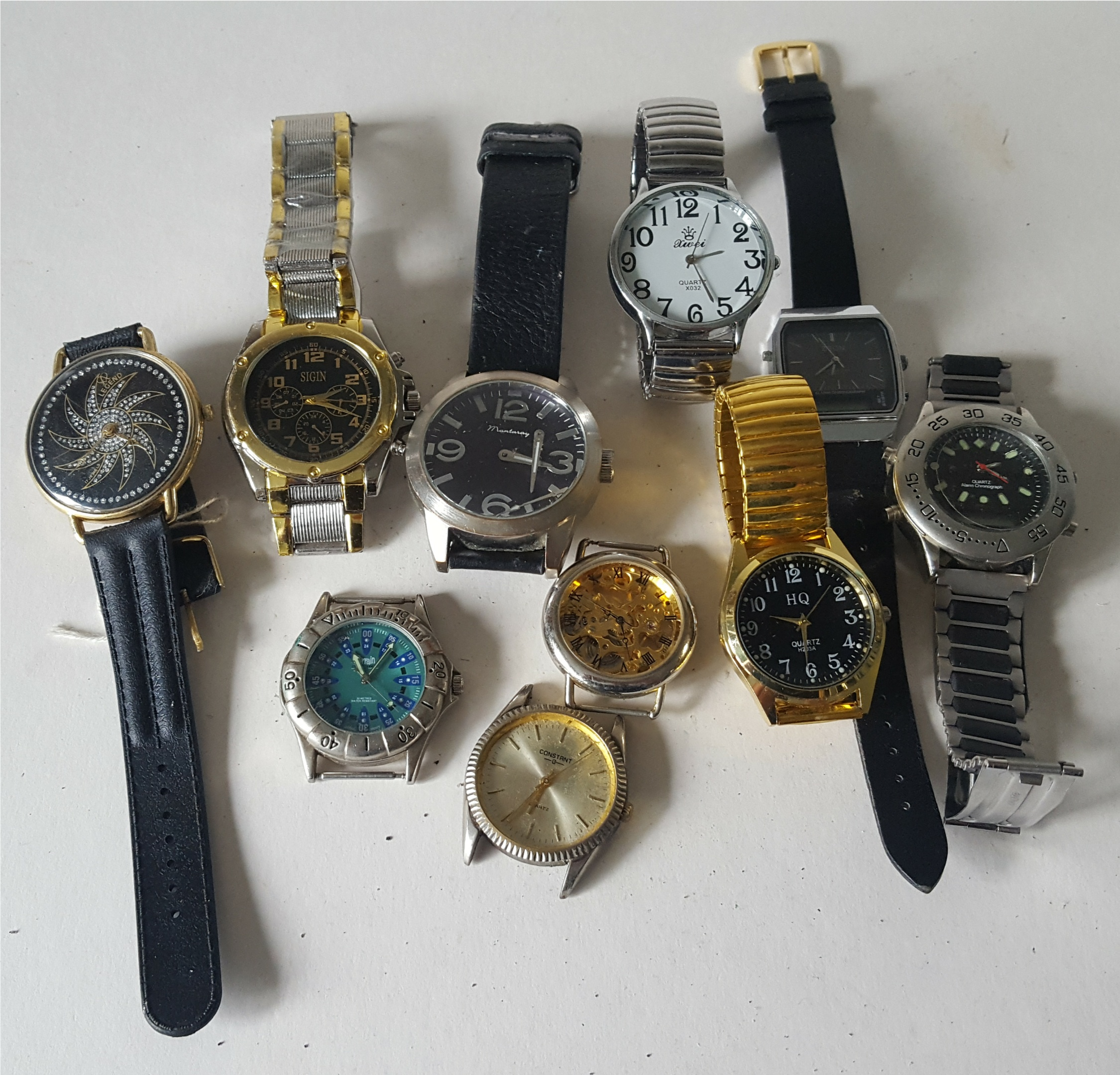 Lot 83 - Vintage Retro Parcel of 10 Assorted Wrist Watches NO RESERVE