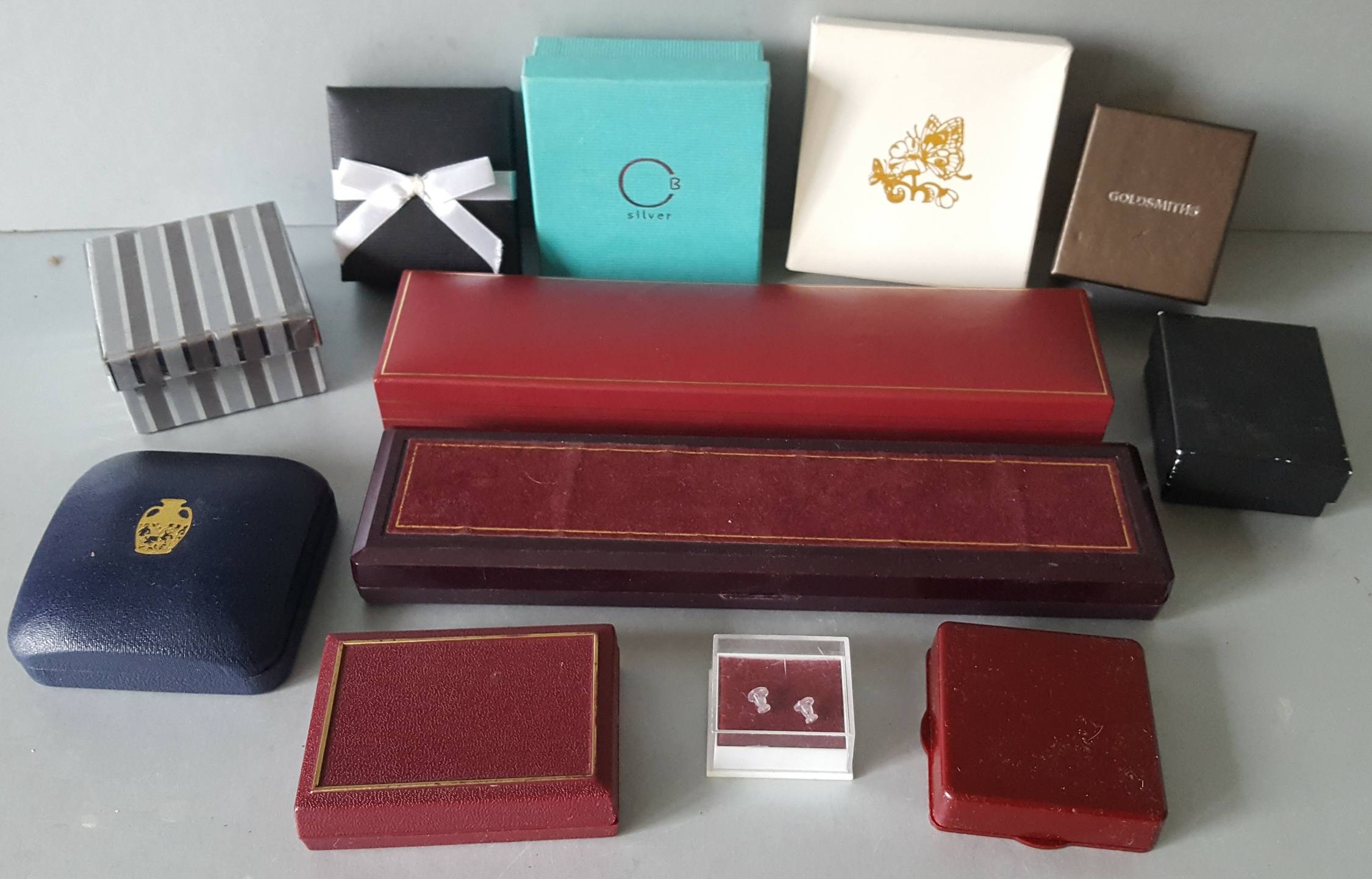 Lot 4 - Vintage Retro 12 Assorted Jewellery Boxes NO RESERVE