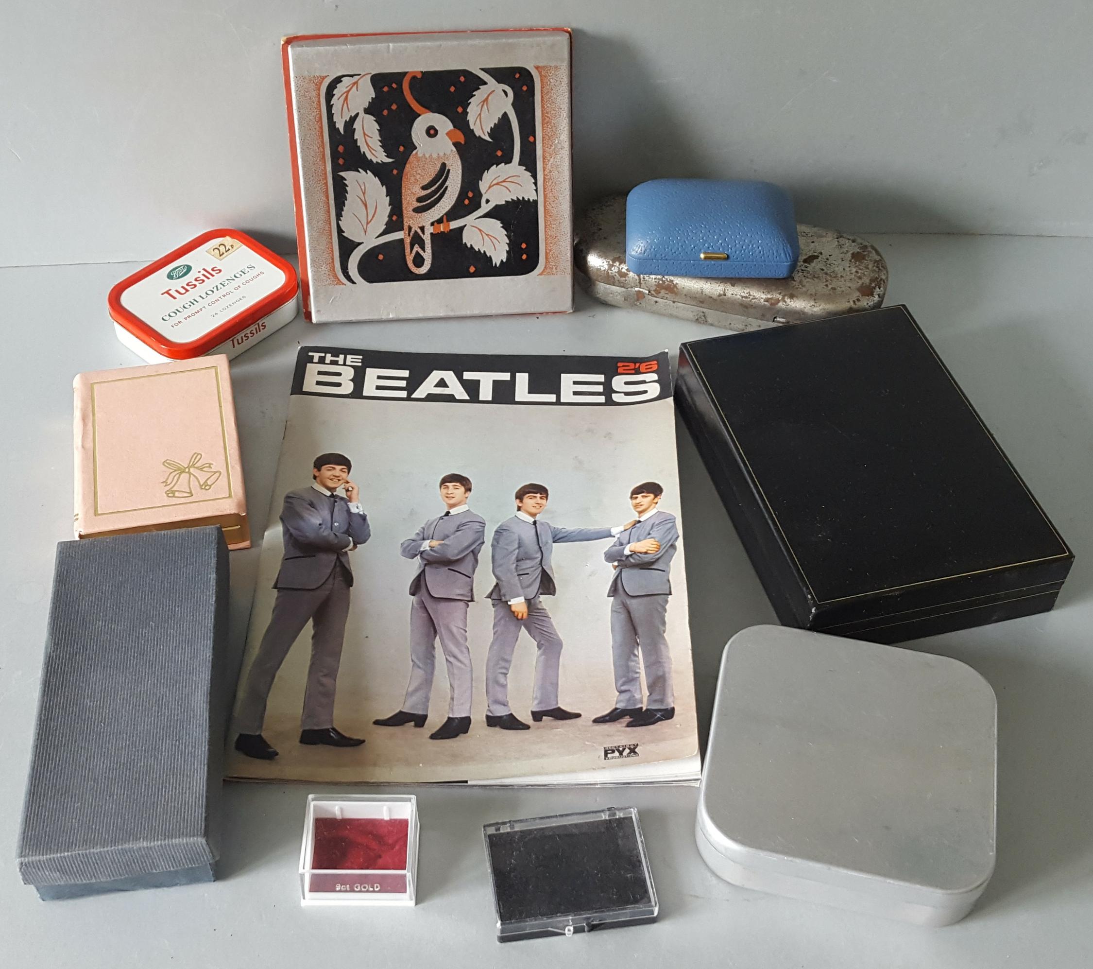 Lot 109 - Vintage Retro The Beatles Magazine 1960'sPlus Assorted Boxes