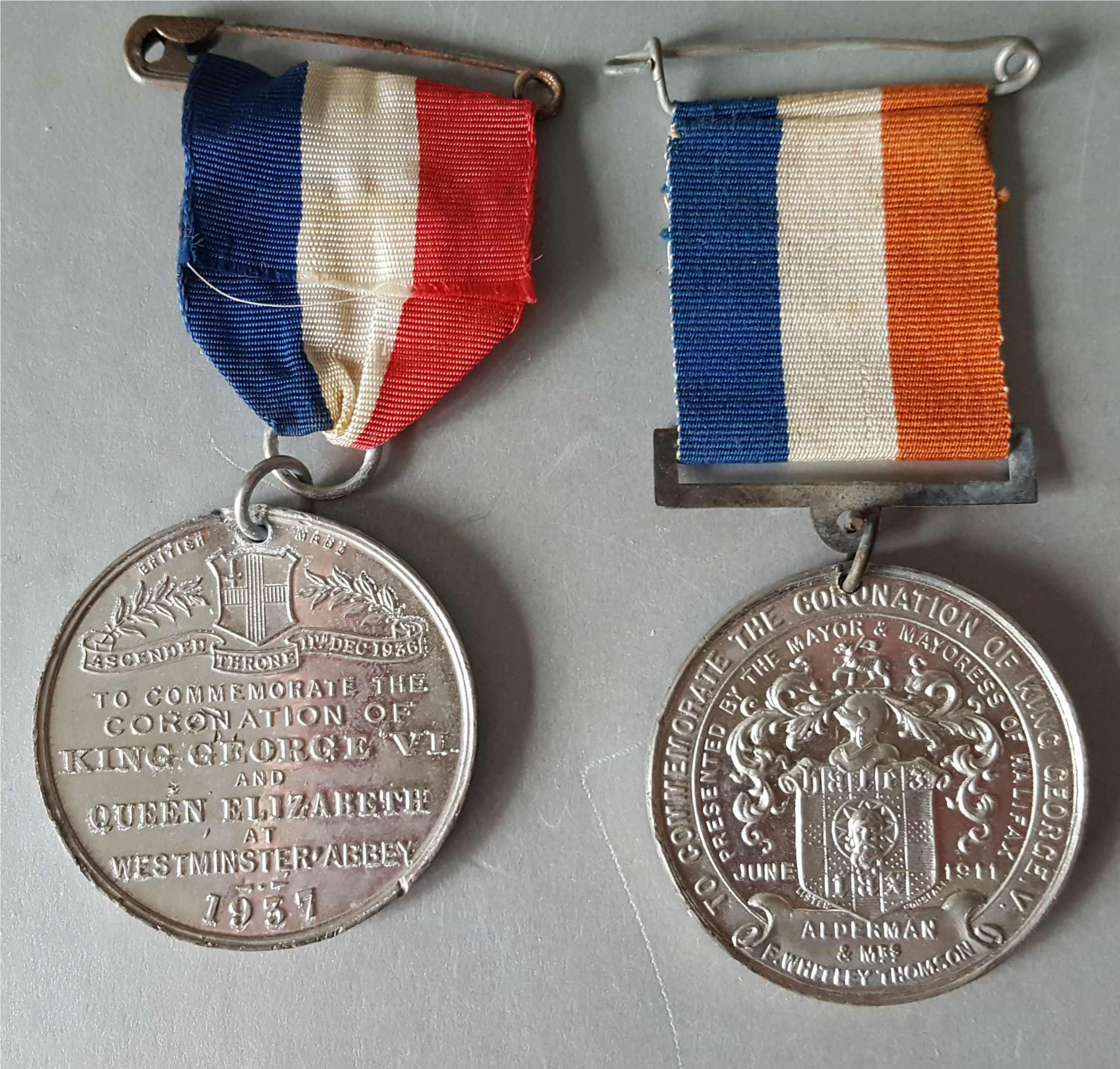 Lot 17 - Vintage Medals Commemorative Coronation of King George V 1911 & King George VI 1937 NO RESERVE