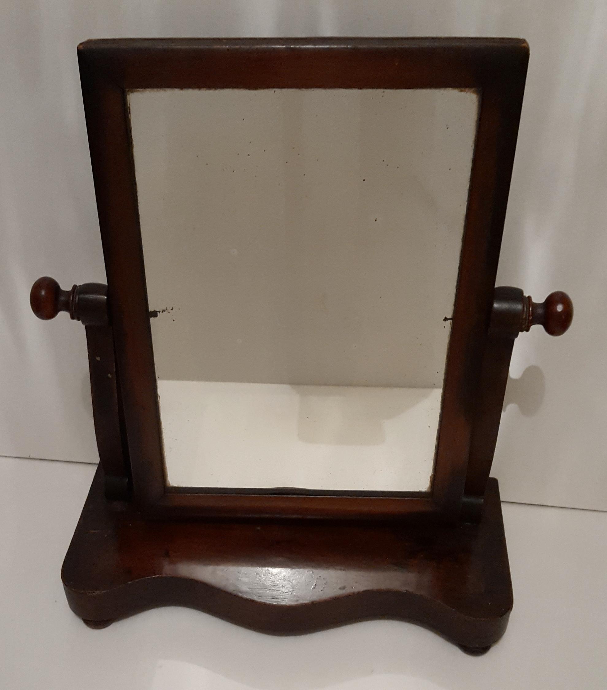 Lot 63 - Antique Victorian Wash Stand Swivel Mirror Mahogany. NO RESERVE