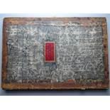 Einband.Halbledereinband (ca. 74 x 51 cm) des 18. Jahrhunderts mit goldgepr. Rückentitel u.
