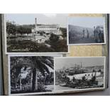 Marine.Erinnerungen an meine Wehrdienstzeit. Um 1937. 144 mont. Orig.-Fotografien. Qu.-4°. OLwd.-