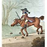 Karikatur.- Gambado, G. (d.i. H.W. Bunbury).2 Werke in 1 Bd. Beide: London, Hooper and Wigstead,